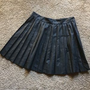 Urban Outfitters faux leather pleated skirt!